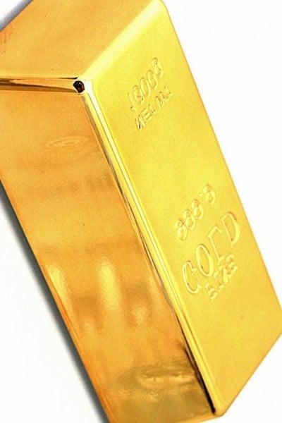 Goldbarren als Geschenkkarton