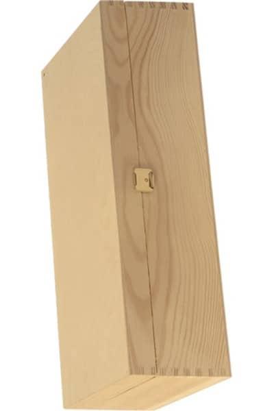 Holzschatulle für 2 Flaschen mit Scharniere