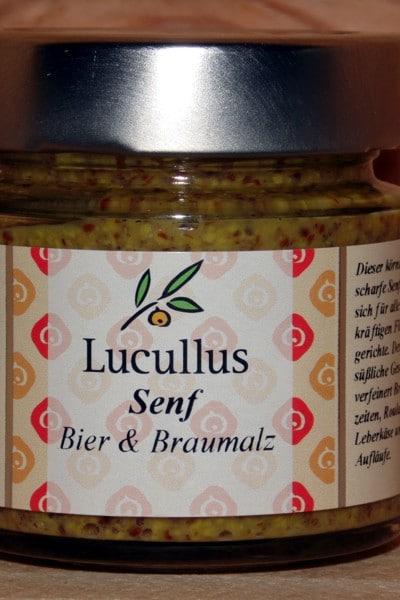Bier & Braumalz Senf von Lucullus