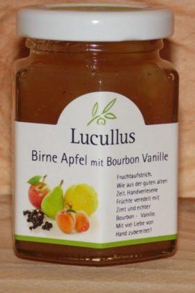 Fruchtaufstrich Birne Apfel mit Bourbon Vanille