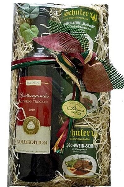 Geschenkkorb mit Wildgerichten
